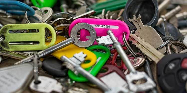 Keys And Colored Key Fobs 1